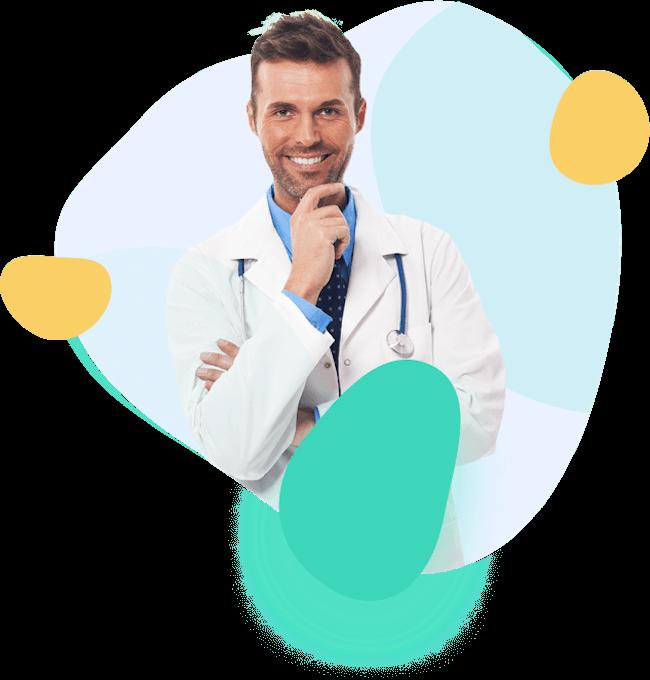 Doutor de Planos de Saúde sorrindo